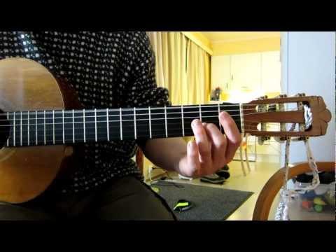Gymnopedie 1 classical guitar tutorial (Erik Satie) tab and sheet music included.