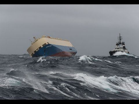 Freighter in distress off French coast