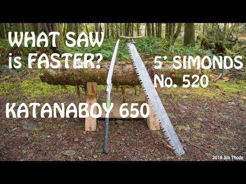 Katanaboy 650 - Crosscut Saw Speed Test