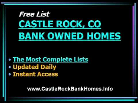 Castle Rock Colorado bank owned homes for sale.