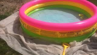 Новый бассейн из Сима-Ленд для дачи.