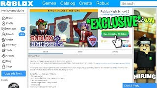 Buying EARLY Access to the NEW Roblox High School 2!! (Roblox)