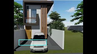 4 M* 6 M -tiny House , Small House, 2 Storey Plan, Modern House, Floor Plan, Free Plan