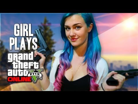 Girl play in gta and ridding toy
