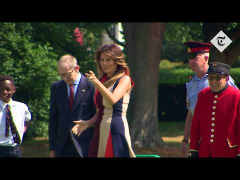 Melania Trump wears Victoria Beckham to play bowls with Philip May