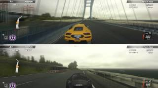 Crash Time 5 - Undercover Split Screen Gameplay PC - Race on highway