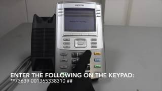 Nortel 1140e Factory Reset