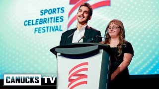 Brandon Sutter and the Canucks at the Sports Celebrities Festival