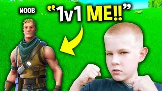 NOOB Challenged his SCHOOL BULLY in Fortnite.. (Noob vs. Bully)