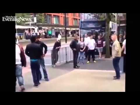 Muslims and English fighting I'm Manchester .....WATCH TO SEE WHAT HAPPENS NEXT!!!!c