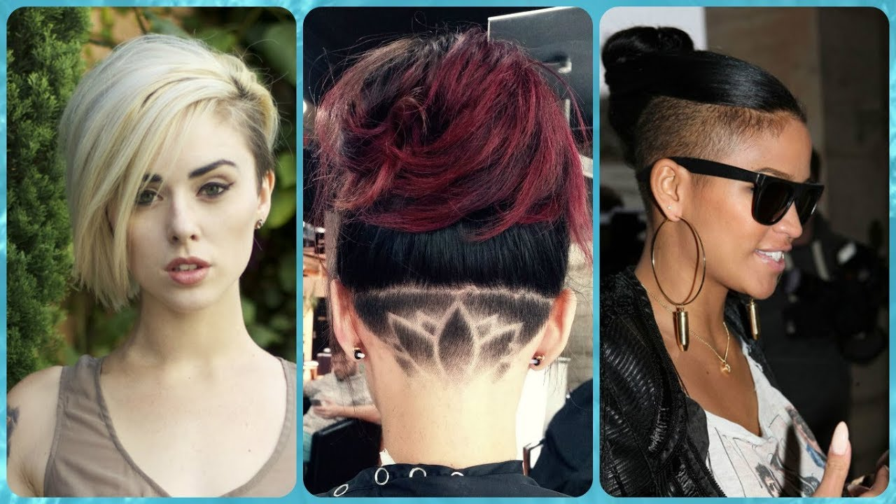 Top 20 idee per capelli lunghi rasati ai lati donne - YouTube