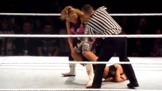 WWE Natalya Sharpshooter on AJ Lee in Toronto!