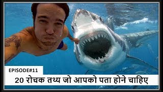 20 रोचक तथ्य जो आपको पता होने चाहिए  - Top 20 interesting facts you should know in Hindi EPISODE#11