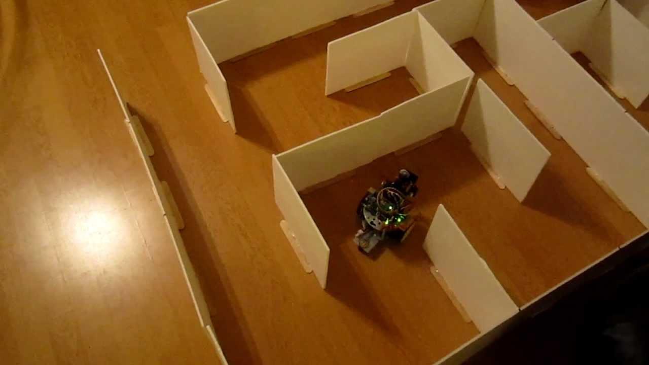 Arduino maze-solver and wall-follower robot
