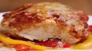 👩🍳Куриная грудка с болгарским перцем запеченная в духовке.