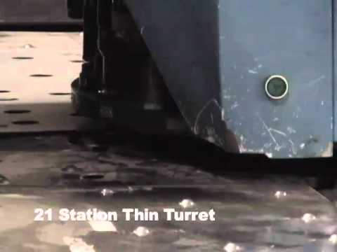 25 Ton Finn Power CNC Turret Punch Press Demonstration