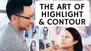 How to Highlight and Contour Different Face Shapes | Bridal Seminar Pt. 4 | mathias4makeup