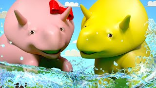 Summer Heat - Learn About Summer - Learn with Dino the Dinosaur 👶 Educational cartoon for toddlers