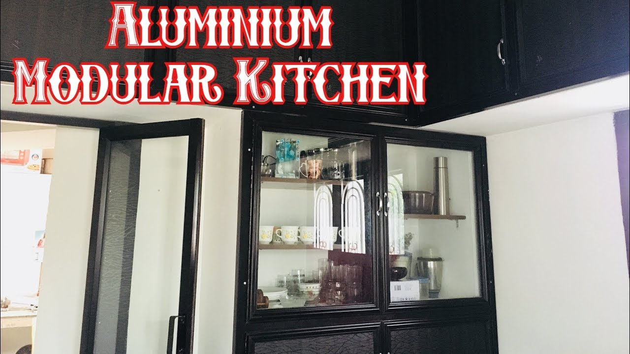 Aluminium Modular Kitchen Cabinet Design Kitchen Cabinet Design Kitchen Cabinet Work Youtube
