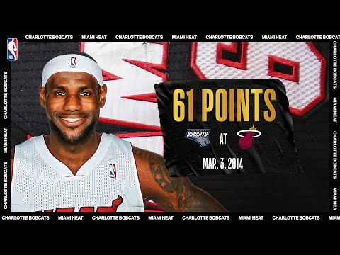 LeBron scores career-high & Miami Heat record 61 PTS vs Charlotte | March 3, 2014 | #NBATogetherLive