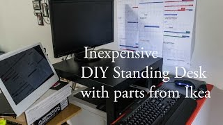 Inexpensive ($30) Diy Standing Desk With Parts From Ikea