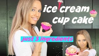 Ice Cream Cupcakes! just 3 ingredients - super healthy and super easy