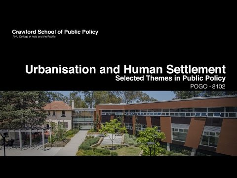 Urbanisation and Human Settlement - POGO8102