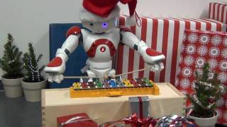 NAO humanoid robot plays Jingle Bells on a glockenspiel. Merry Christmas!