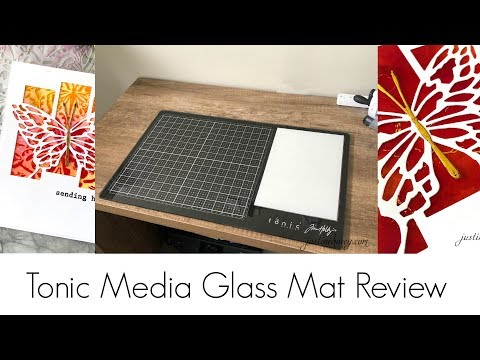 Tim Holtz/Tonic Media Glass Mat Review + Multi Layer Card Olga Direktorenko Collaboration