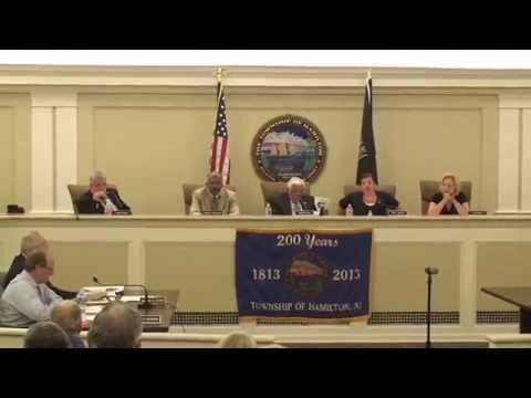 July 6, 2015 - Township of Hamilton Committee Meeting