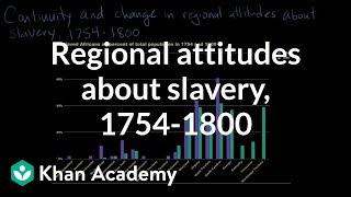 Regional attitudes about slavery, 1754-1800 | US history | Khan Academy