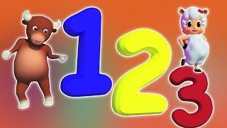 Nummer Song 1-10   Karikatur-3D für Kinder   Bildungs Video   Number Song 1-10
