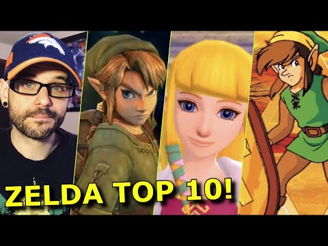 The TOP 10 Zelda games of All Time!