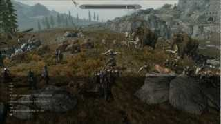 Skyrim - Massive NPC War (Over 250 individual characters)