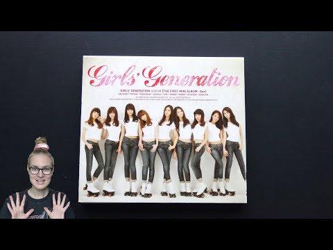 Unboxing Girls' Generation 소녀시대 1st Korean Mini Album Gee