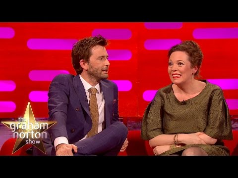 David Tennant and Olivia Colman Check Out The Sexy Broadchurch  Art  The Graham Norton