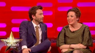David Tennant and Olivia Colman Check Out The Sexy Broadchurch Fan Art - The Graham Norton Show