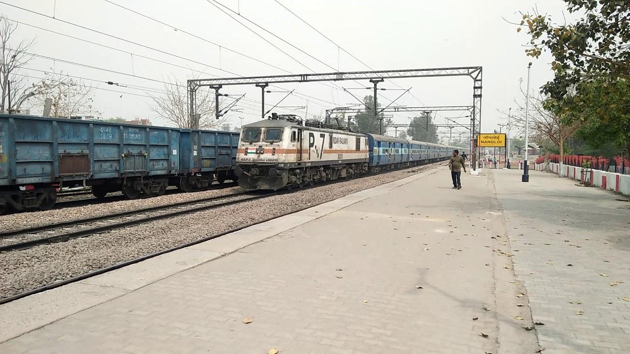 19023 Mumbai Central Firozpur Janta Express|GZB WAP7 #30210