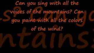 Ashanti~ The colors of the wind with lyrics