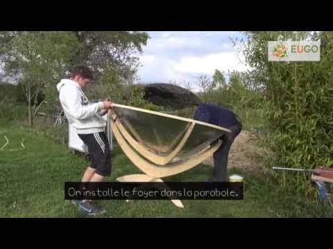 Tutorial - construction of parabolic solar cookers (in English)