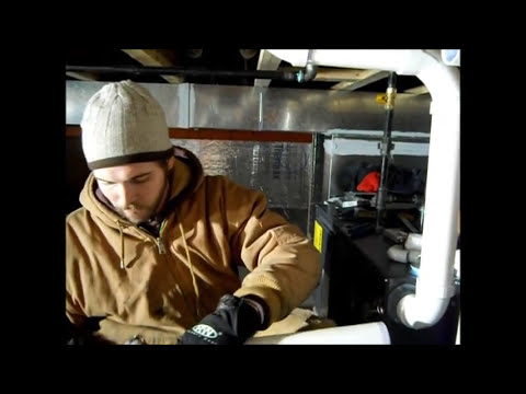 Venting A 90 Efficient Horizontal Furnace Youtube