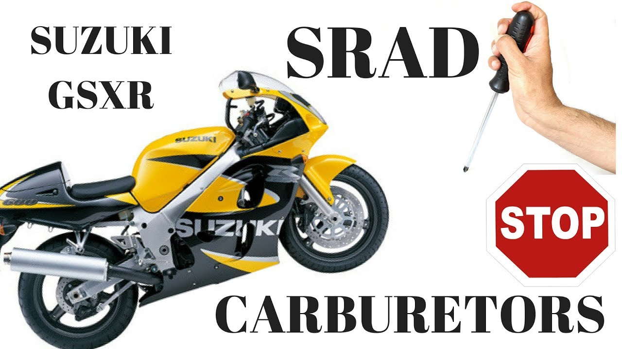 medium resolution of suzuki gsxr 600 srad removing and cleaning carburetors