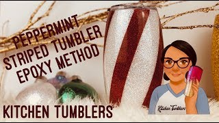 Peppermint Striped Tumbler using the Epoxy Method| Epoxy Method Striped Tumbler