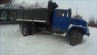 Как я порвал редуктор.ЗиЛ 130 в снегу.Цепи.Буксуем.