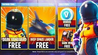NEW DARK VANGUARD SKIN + DEEP SPACE LANDER GLIDER in Fortnite! - Fortnite Battle Royale Live