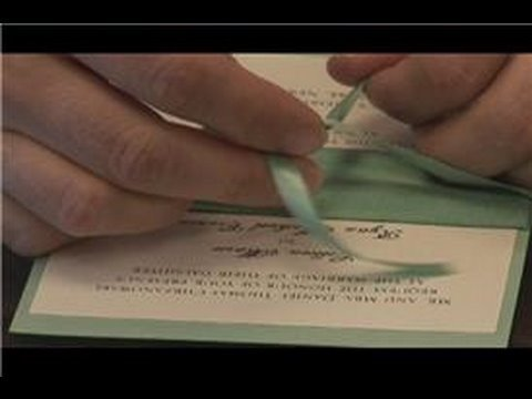Diy wedding preparation how to tie a bow on a wedding invitation diy wedding preparation how to tie a bow on a wedding invitation youtube stopboris Image collections