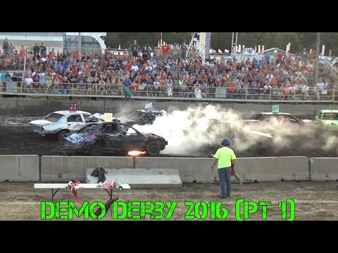 Benton County Demo Derby 2016 (Part 1)
