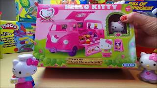 Unboxing Sanrio Vellutata Hello Kitty Meo VW Camper Burger Van #hellokitty
