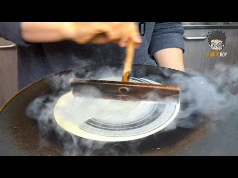 Korean Street Food | Crepe in Pusan National University, Busan Korea