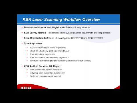 KBR – As Built Best Practices from One of the World's Largest EPC's